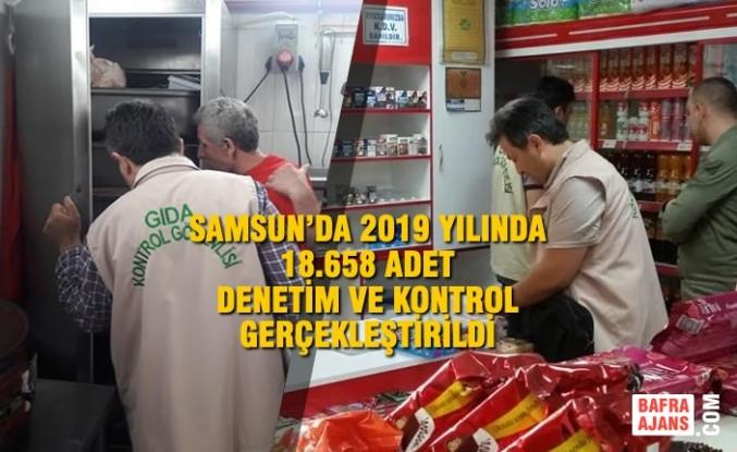 Samsun'da 2019 Yılında 18.658 Adet Denetim ve Kontrol Gerçekleştirildi