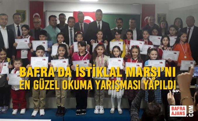Bafra'da İstiklal Marşı'nı En Güzel Okuma Yarışması Yapıldı