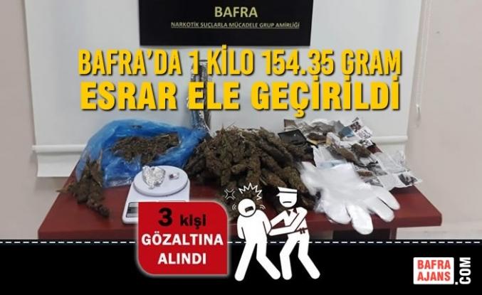 Bafra'da 1 Kilo 154.35 Gram Esrar Ele Geçirildi