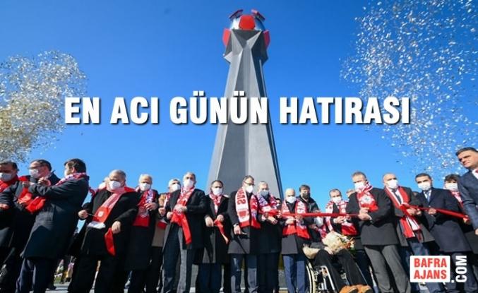 """Büyükşehir Belediyesi'nin """"Samsunspor Anıtı"""" Törenle Açıldı"""