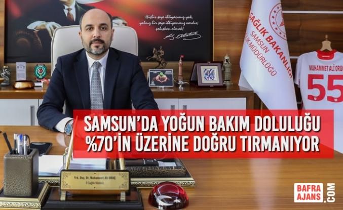 Samsun'da Yoğun Bakım Doluluğu %70'in Üzerine Doğru Tırmanıyor