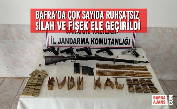 Bafra'da Çok Sayıda Ruhsatsız Silah ve Fişek Ele Geçirildi