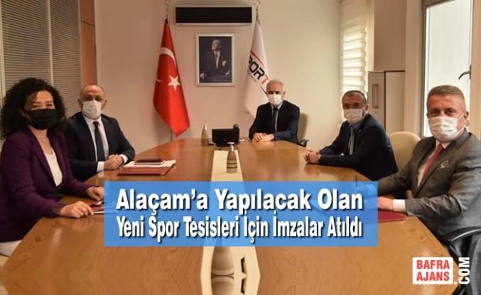 Alaçam'a Yapılacak Olan Yeni Spor Tesisleri İçin İmzalar Atıldı