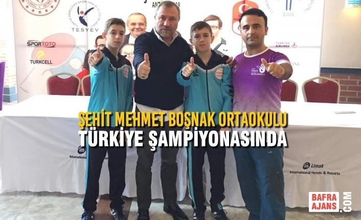 Şehit Mehmet Boşnak Ortaokulu Türkiye Şampiyonasında