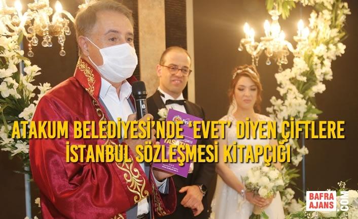 Atakum Belediyesi'nde 'Evet' Diyen Çiftlere İstanbul Sözleşmesi Kitapçığı