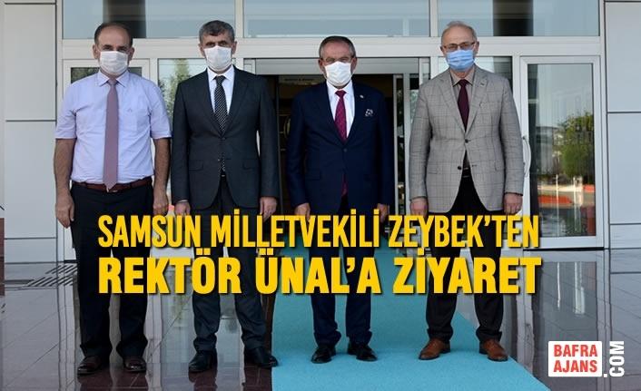Samsun Milletvekili Zeybek'ten Rektör Ünal'a Ziyaret