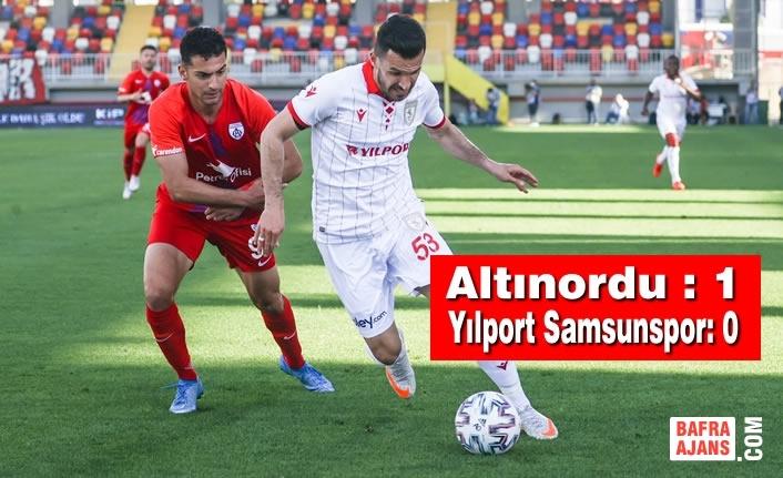 Altınordu : 1 – Yılport Samsunspor: 0