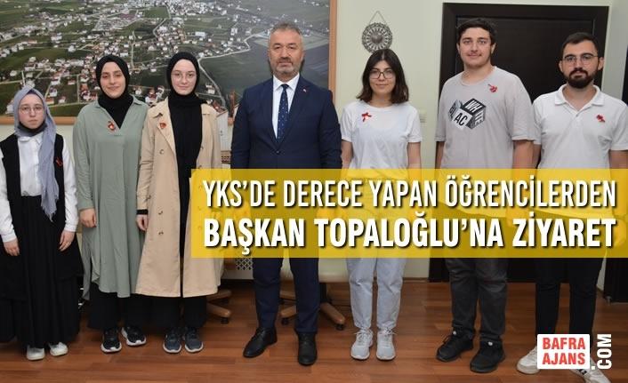 YKS'de Derece Yapan Öğrencilerden Başkan Topaloğlu'na Ziyaret