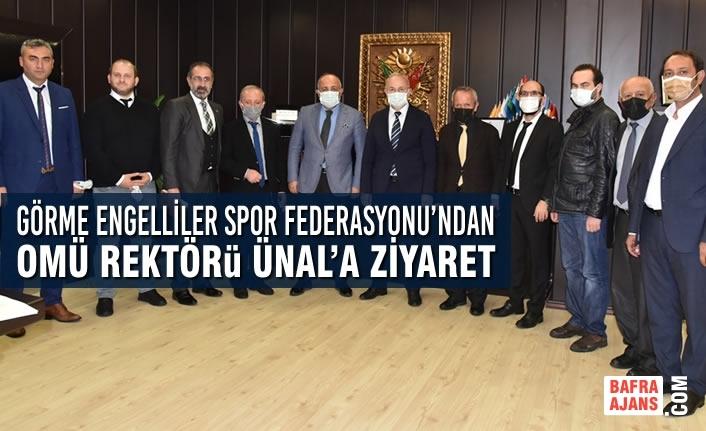Türkiye Görme Engelliler Spor Federasyonu'ndan Rektör Ünal'a Ziyaret